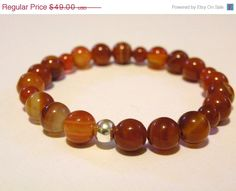 HOLIDAY SALE Carnelian Handcrafted Bracelet by ScorpionMoonDesigns, $41.65