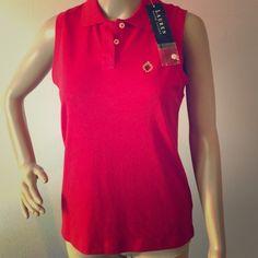 Lauren Ralph Lauren Shirt NWT this sleeveless shirt measures laying flat  shoulder to hem 24in underarm to underarm 17 1/2in 100% cotton Lauren Ralph Lauren Tops