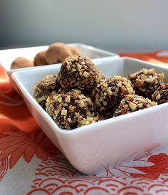 finished chocolate truffles