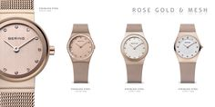 Ladies love rosé gold; BERING watch; Women's watches; Classic Collection