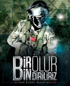 Bir ölür, bin diriliriz.. #elbab #suriye #tsk #komando