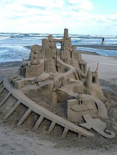 """South Padre Island, TX - sand castle competition """"Competition is exciting and we all love watching the sand castle sculptors!  Trini"""""""