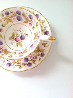 Vintage English Royal Stafford Golden Bramble by MariasFarmhouse, $65.00