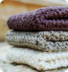 easy crochet dishcloths (organic cotton)