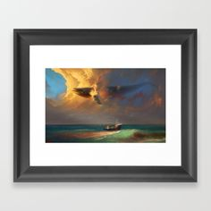 Sorrow for the Whales Framed Art Print by Artem Rhads Cheboha. Worldwide…