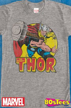 Mighty Thor T-Shirt: Thor Mens T-Shirt This popular celebrity super hero has colorful  art and illustration.This is a must have men's fashion.