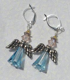 Angel Earrings by HillsideCreations on Etsy, $40.00