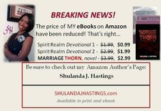 Devotional ebooks by author Shulanda Hastings on sale on Amazon.