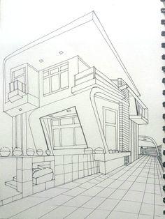건물 펜일러스트2