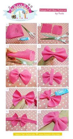 simple felt bow