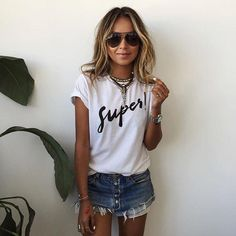 68279ab116e Short Sleeves Letter Print Scoop Casual T-shirt