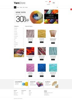 Yarn Online Store #Virtuemart #template. #themes #business #responsive
