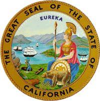 California flag and description and California seal