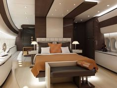 Most of us can't afford to fly first-class, let alone buy our own jet. And even within that exclusive world, it's a big step up from your standard private jet to a personalized Boeing Jets Privés De Luxe, Luxury Jets, Luxury Private Jets, Private Plane, Luxury Yachts, Luxury Hotels, Luxury Travel, Jet Aviation, Aviation Blog