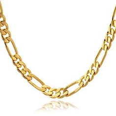 U7® 18K Gold Filled Figaro Chain For Men 4Mm,18 Inche (46Cm). Get thrilling discounts up to 70% Off at Light in the Box with coupon and Promo Codes.