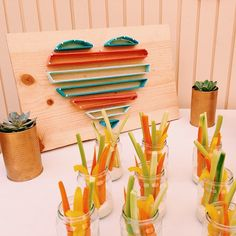 inexpensive baby shower decoration ideas with yarn {instagram @Kiira Turnbow}