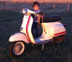 Kai on my old 50 Special with PK125 engine.  Chilhowee, MO, 2013.