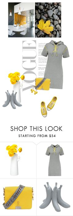 """""""Yellow and Grey"""" by sharmarie ❤ liked on Polyvore featuring Marc by Marc Jacobs, Off-White, Converse, Zanellato/Bortotto and Humble Chic"""
