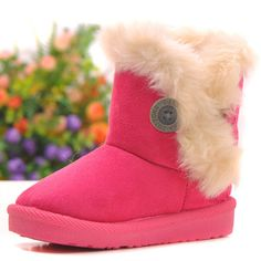Mother & Kids Children's Shoes Analytical Fashion Girls Boots Thicker Warm Plush Winter Boots For Children Brand Kinder Snow Boots Classic Kids Baby Toddler Boots Shoes Cool In Summer And Warm In Winter