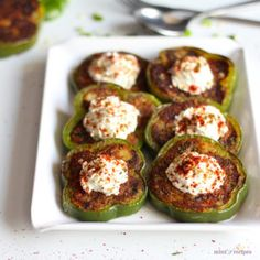 Capsicum Masala Tikki Recipe - MintsRecipes Capsicum masala tikki cooked with boiled and mashed potato with some spices like garam masala, red chilli powder, lemon juice etc and shallow fried on tawa till crispy, serve it as an appetizer in meals Capsicum Recipes, Veg Recipes, Indian Food Recipes, Vegetarian Recipes, Snack Recipes, Cooking Recipes, Cooking Tips, Cooking Food, Gourmet