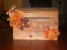 Great idea for a card box!