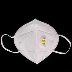 1 PC N95 Folding Nonwoven Valved Dust Mask PM2.5 Disposable Respirator Mask with Valve Anti-haze Anti-pollution Mouth Mask
