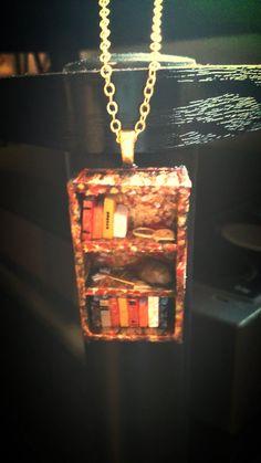 Bookshelf on Fire Hunger Games Bookshelf by Coryographies on Etsy