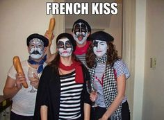 French Kiss. Best Halloween Costume Ever. ---- funny pictures hilarious jokes meme humor walmart fails