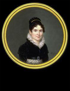 Ferdinand Machéra, Lady in Black Dress with White Ruff, 1821