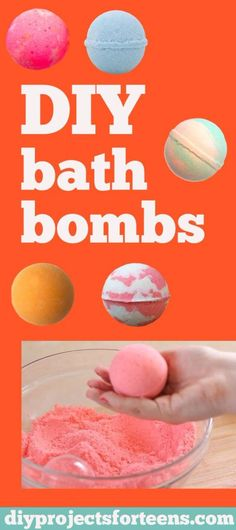 DIY Projects for Teenagers - DIY Lush Bath Bombs - Cool Teen Crafts Ideas for Bedroom Decor, Gifts, Clothes and Fun Room Organization. Summer and Awesome School Stuff http://diyjoy.com/cool-diy-projects-for-teenagers
