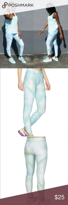"""🆕 Puma Mesh Evo Insert Pants Size Medium Beautiful light blue, green Puma mesh evo insert workout pants. New with tags. Dry cell moisture management. Helps you stay dry during your workout! 88% Polyester, 12% Elastane   Measurements  13"""" across 27"""" inseam (inside of leg) Puma Pants Track Pants & Joggers"""