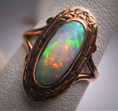 Victorian Opal Ring in rose gold setting via Etsy