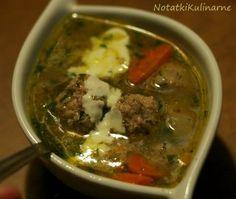 Łotwa: Frikadelu - zupa z klopsikami mięsnymi
