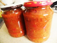 Sos z ogrodu na koniec lata. Salsa, Spices, Food And Drink, Jar, Drinks, Cooking, Drinking, Kitchen, Spice
