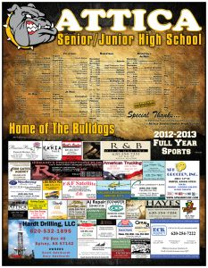 High School Sports Poster Fundraiser
