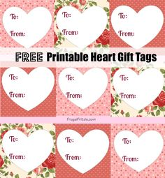 Add a personal touch to your Valentine's Day gifts this year with this set of Free Printable Heart Gift Tags.