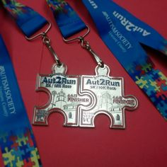 Coolest Race Bling ever! Register online today for the near-sell-out Inaugural Aut2Run event on 4/6/13 to benefit the Autism Society Ventura County at www.Aut2Run.org