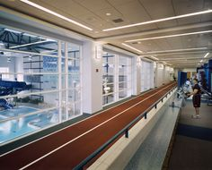 University of Illinois at Urbana-Champaign Campus Recreation Center East (CRCE)   Running Track above Indoor Leisure Pool   VOA Associates, Architect