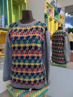 sweter tejido a crochet