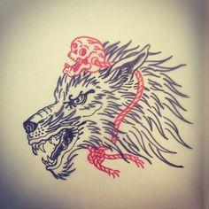 lobo c caveira