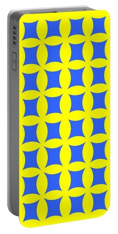 Popart Portable Battery Charger featuring the digital art Blue And Yellow by Otis Porritt