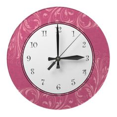 Pink Girls Wall Clocks