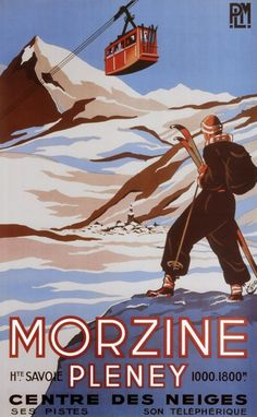 Love Morzine so much and really love this vintage poster. Ski Vintage, Vintage Ski Posters, Retro Poster, Vintage Art Prints, Framed Art Prints, Framed Wall, French Vintage, Old Posters, Art Deco Posters