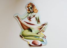 Zombie Pin up Magnet