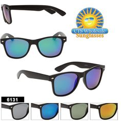 7810b62262 Polarized Mirrored California Classics - Style  6131 (Assorted Colors) (12  pcs.) Wholesale SunglassesReading GlassesMirrored ...