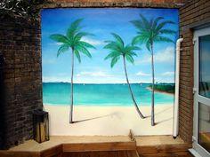 Mural for back wall in yard... Debating on DIY!!?