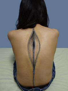 Bizarre Body Paintings by Japanese Artist Chooo-San - Is it possible to use the tattoo paper from Silhouette to create this in a smaller version for halloween?