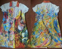 Hand painted dress