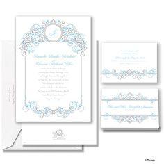 Fairy Tale Filigree wedding invitation - Cinderella #weddinginvite