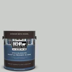 BEHR Premium Plus Ultra 1-gal. #pwl-89 Silver Setting Satin Enamel Exterior Paint